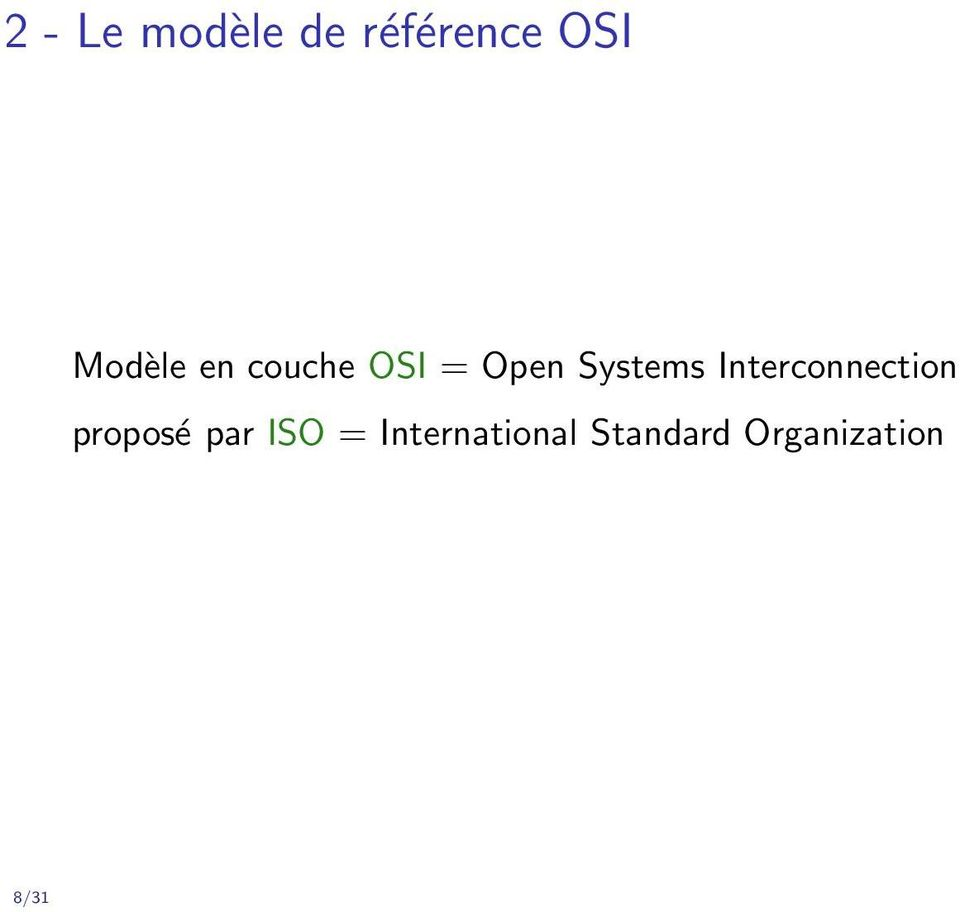 Interconnection proposé par ISO =