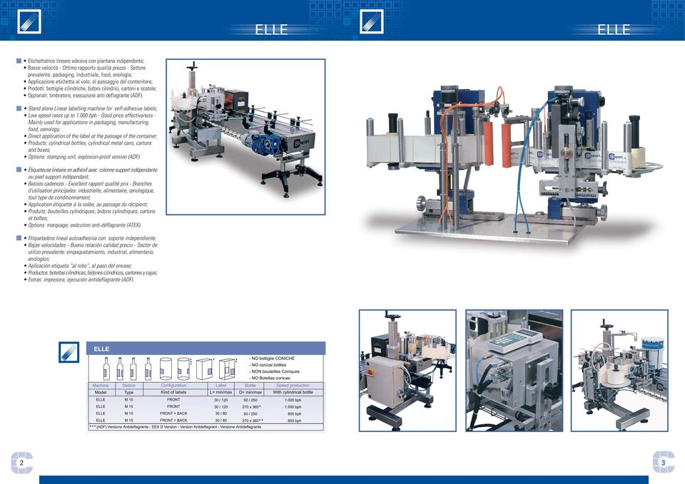 Stand alone Linear labelling machine for self-adhesive labels; Low speed rates up to 1.