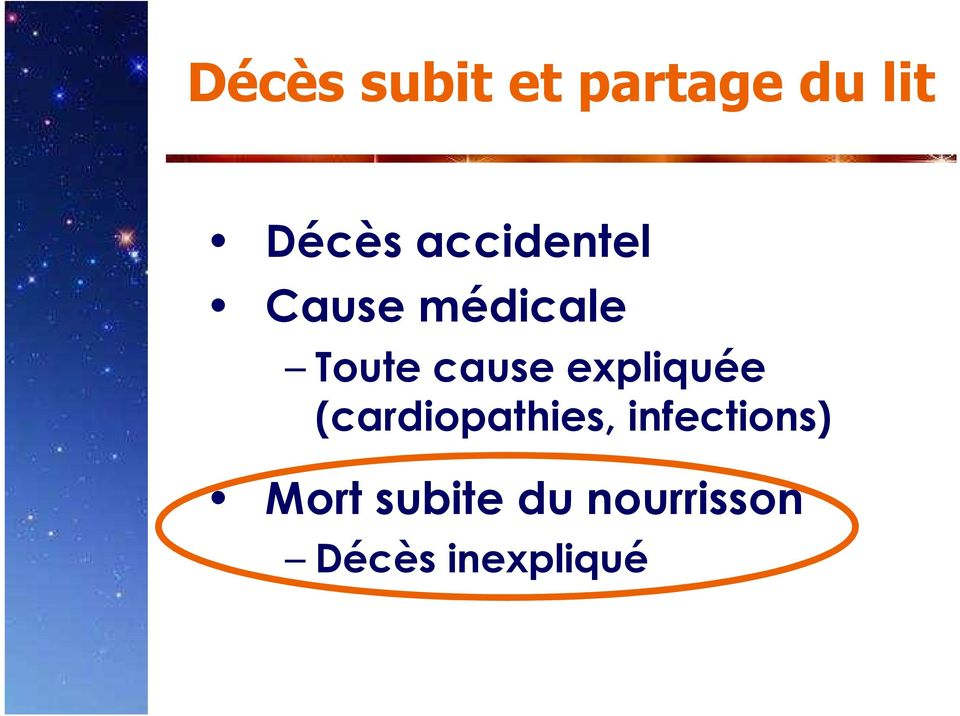 expliquée (cardiopathies, infections)