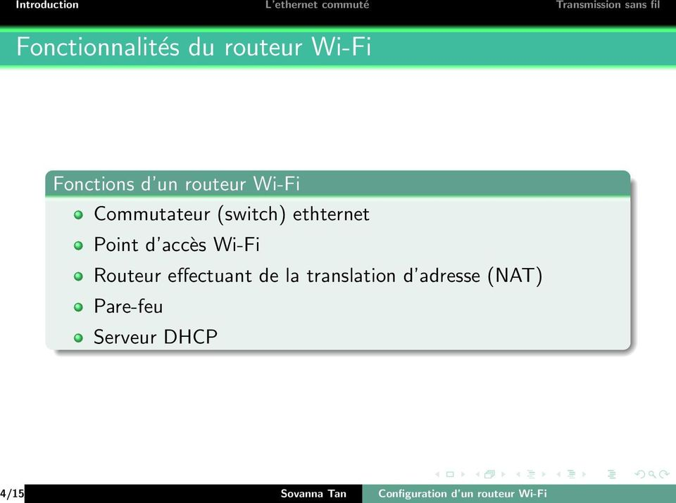 Routeur effectuant de la translation d adresse (NAT)
