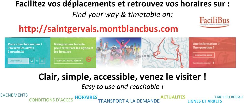 com Clair, simple, accessible, venez le visiter! Easy to use and reachable!