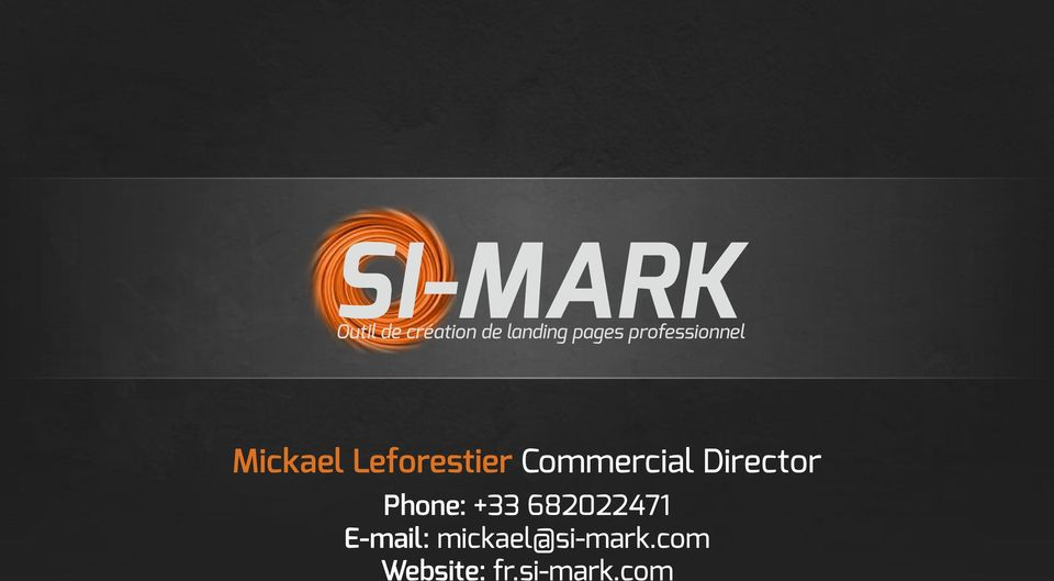 Commercial Director Phone: +33 682022471