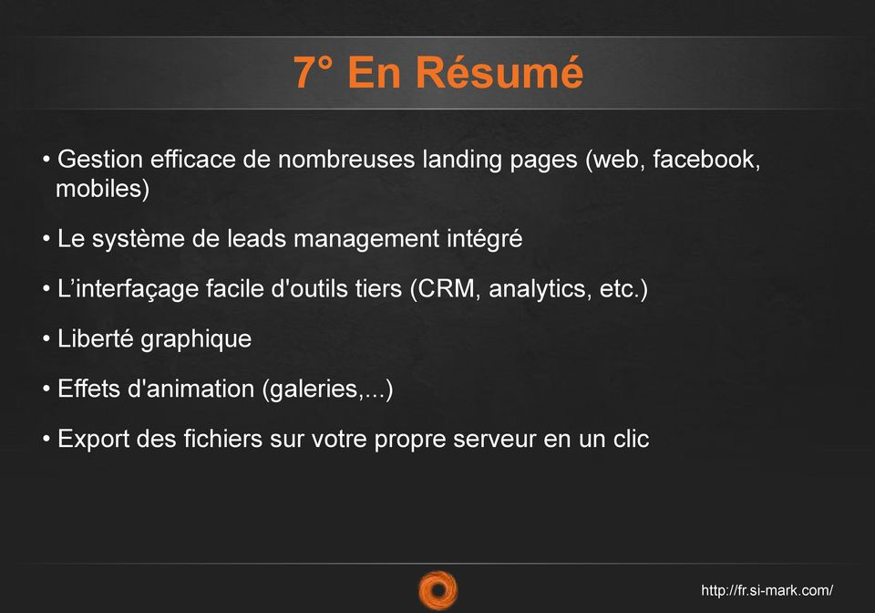facile d'outils tiers (CRM, analytics, etc.