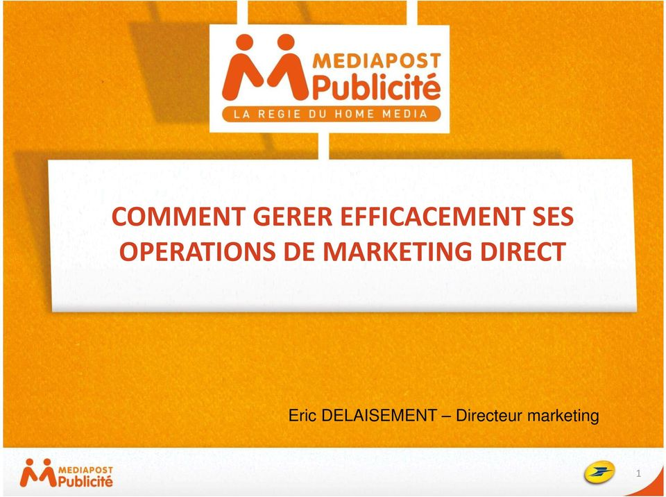 OPERATIONS DE MARKETING