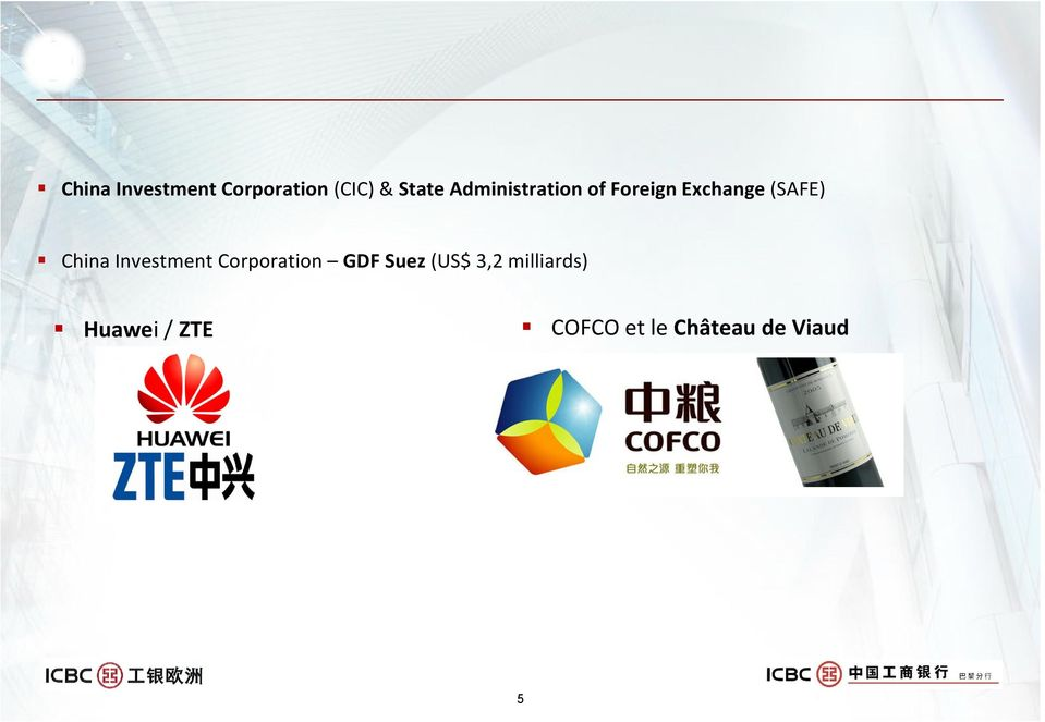 China Investment Corporation GDF Suez (US$ 3,2