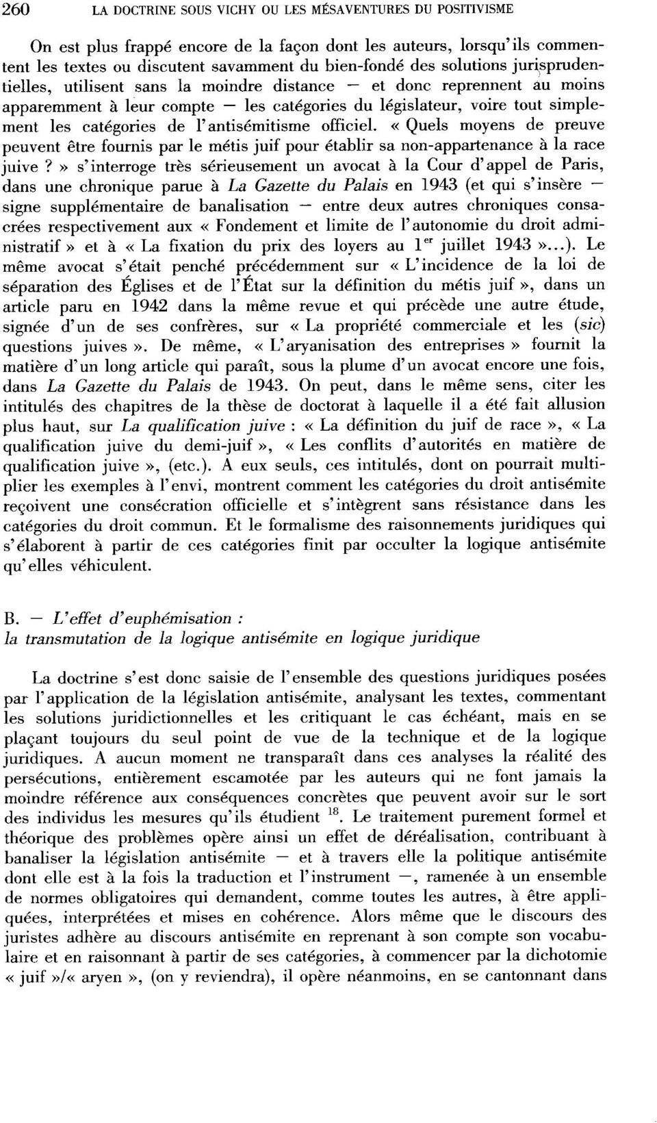l'antisémitisme officiel. < Quels moyens de preuve peuvent être fournis par le métis juif pour établir sa non-appartenance à la race juive?