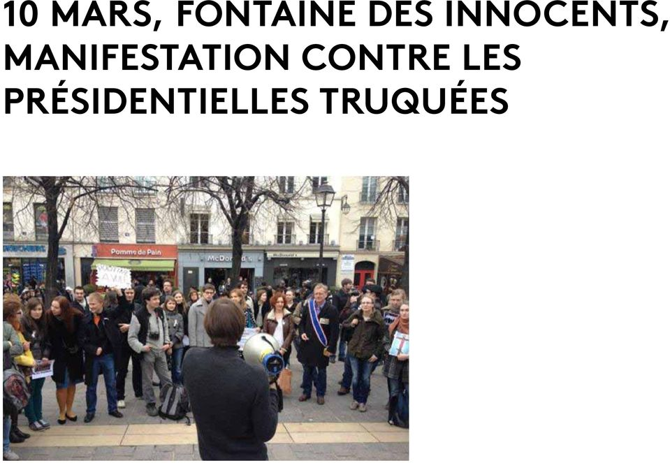Manifestation contre
