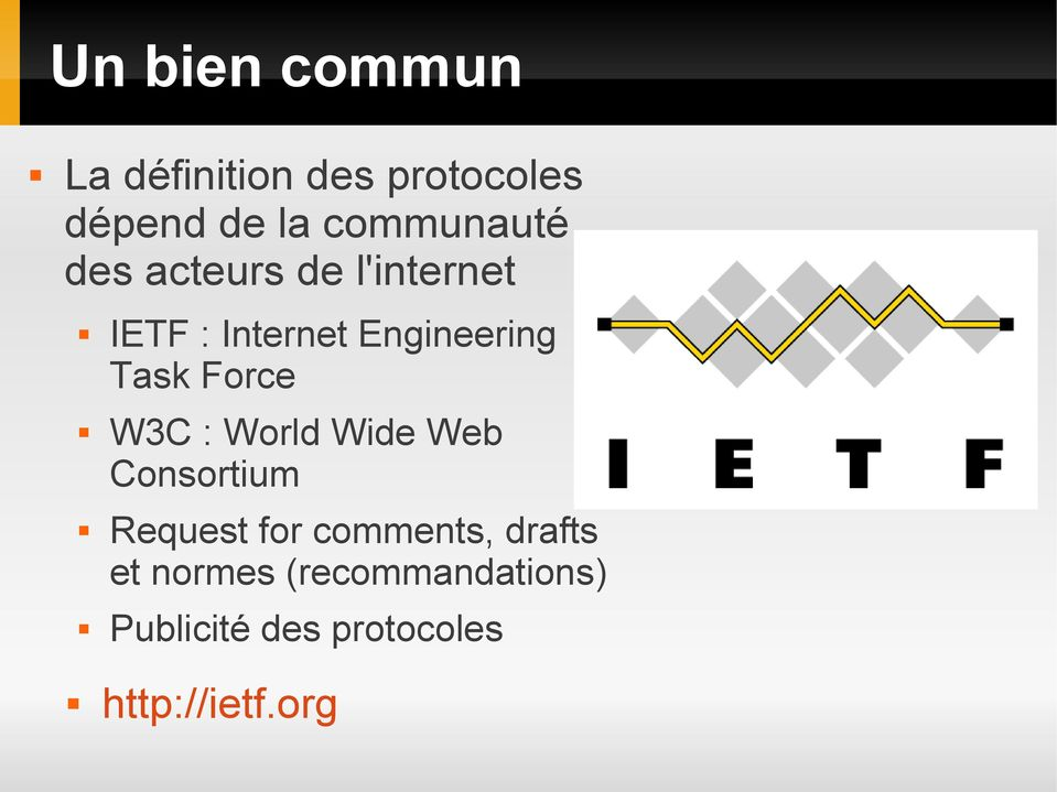 Task Force W3C : World Wide Web Consortium Request for comments,