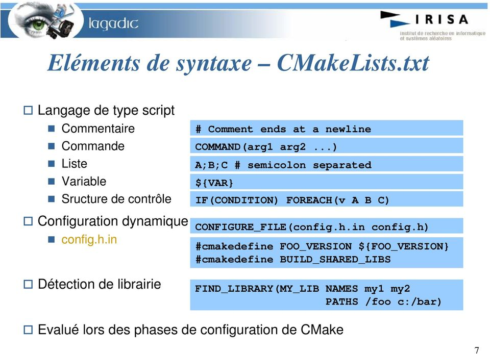 in Détection de librairie # Comment ends at a newline COMMAND(arg1 arg2.