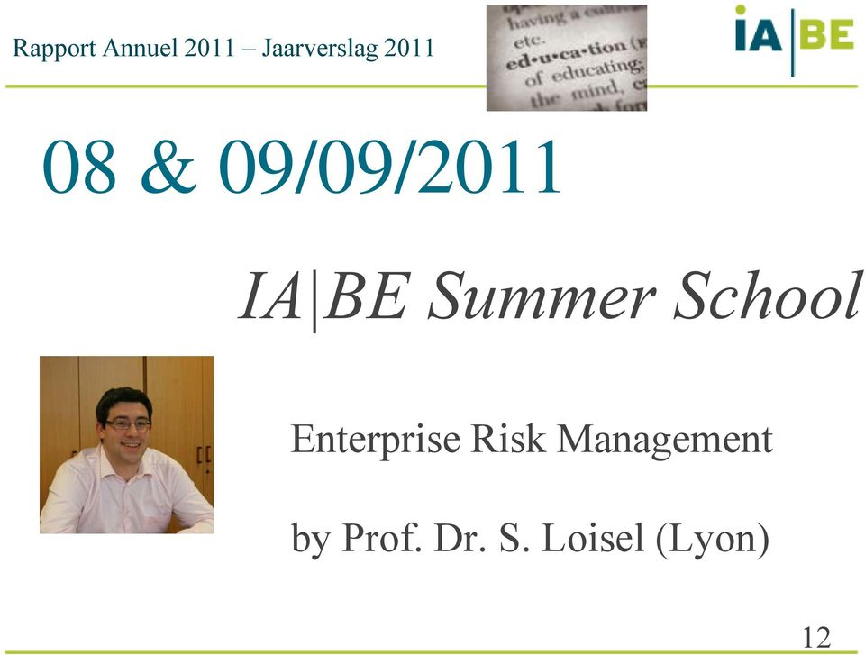 Summer School Enterprise Risk