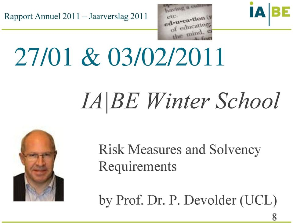 School Risk Measures and Solvency