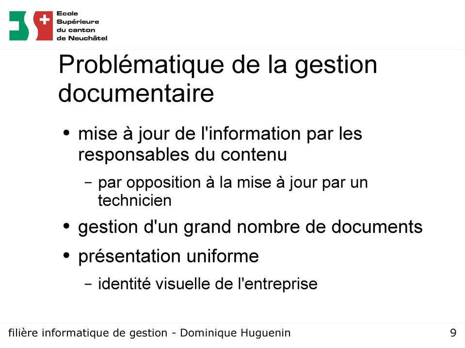 technicien gestion d'un grand nombre de documents présentation uniforme