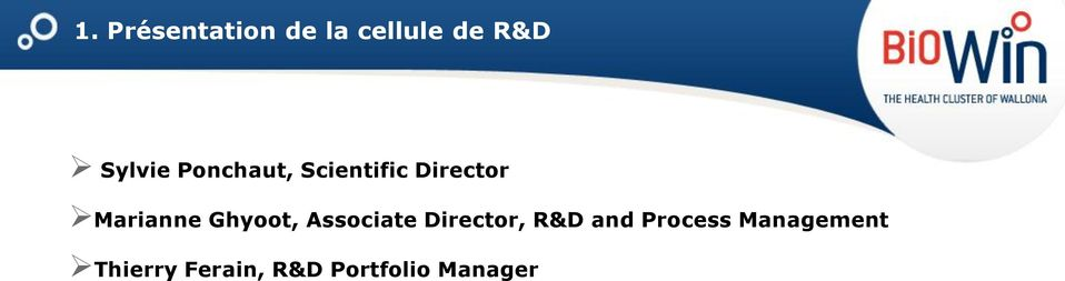 Ghyoot, Associate Director, R&D and Process
