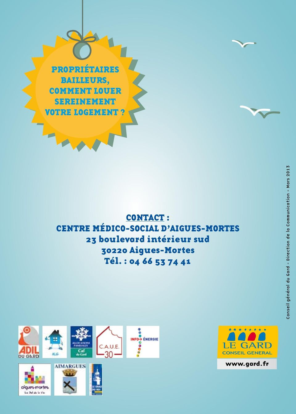 Contact : centre médico-social d aigues-mortes 23 boulevard