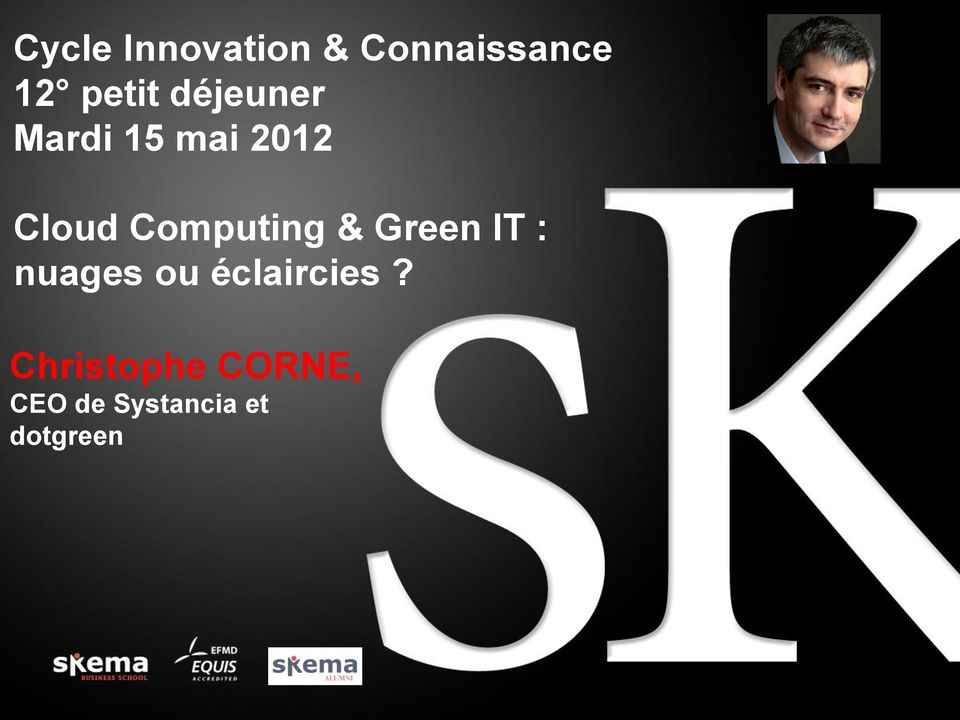 Computing & Green IT : nuages ou