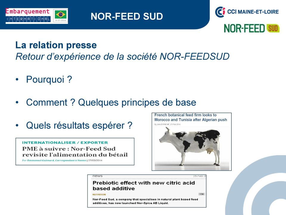 NOR-FEEDSUD Pourquoi? Comment?