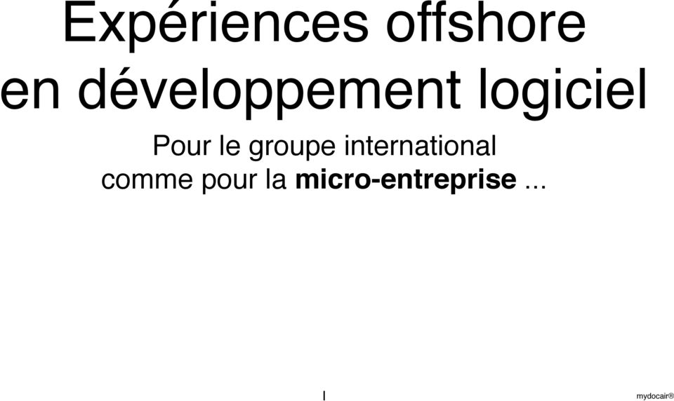 le groupe international
