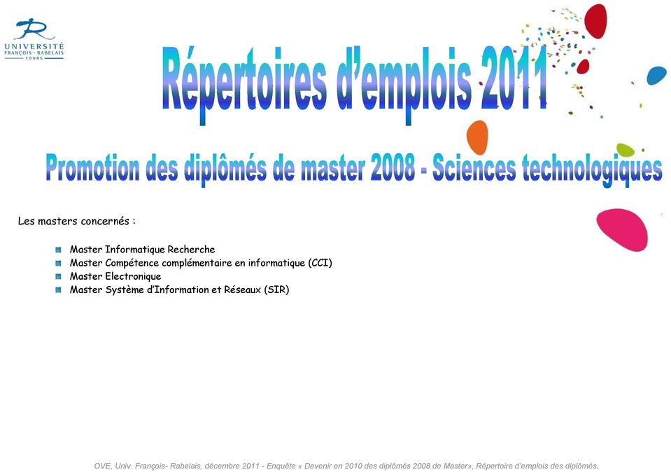 en informatique (CCI) Master Electronique