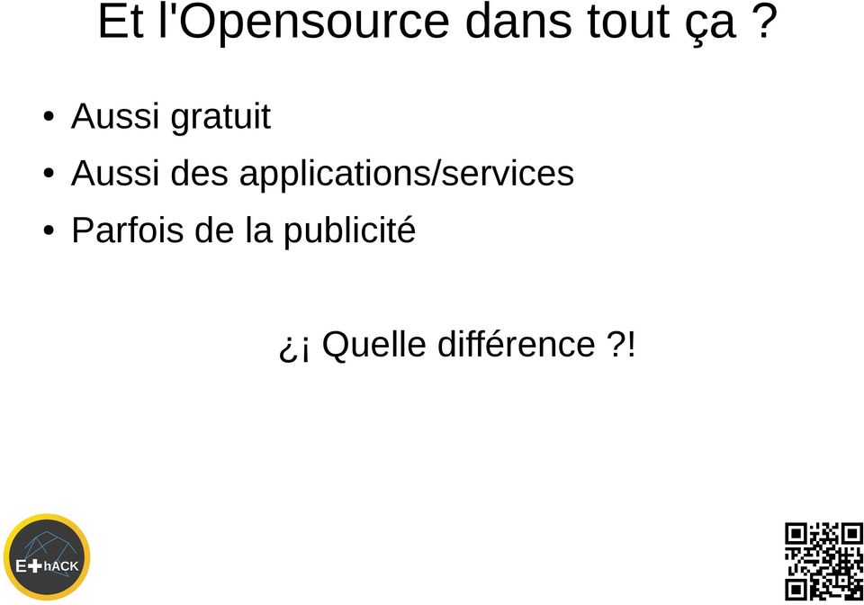 applications/services Parfois