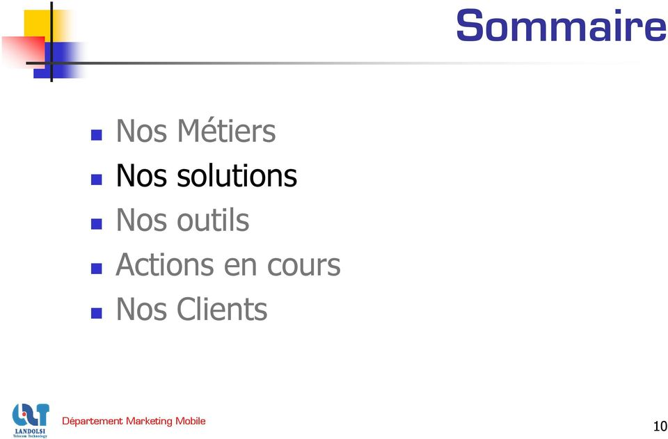 solutions Nos