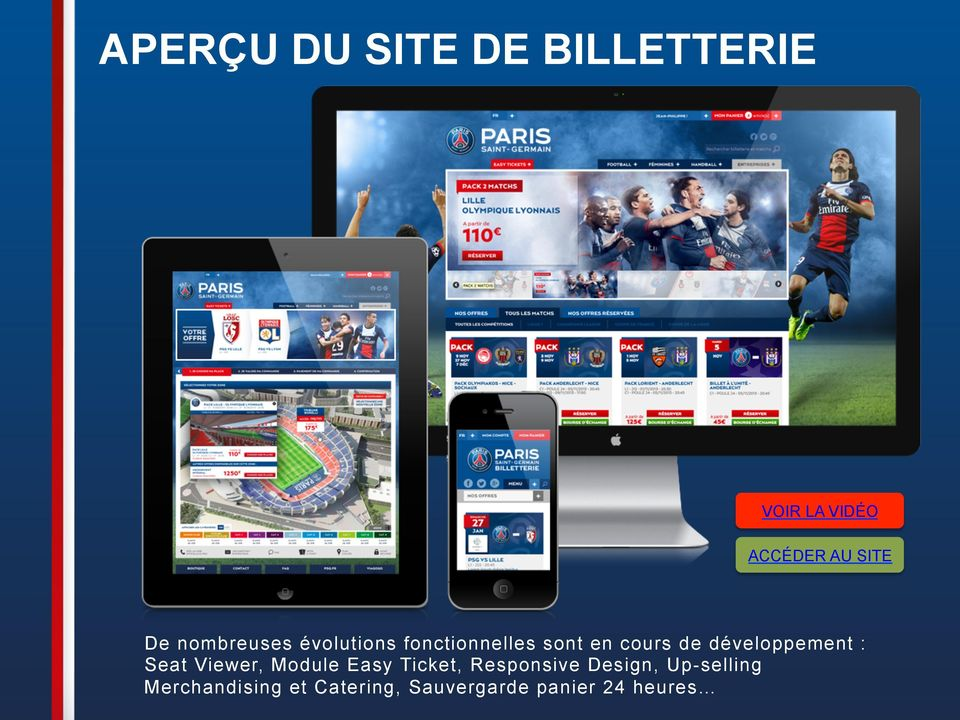 développement : Seat Viewer, Module Easy Ticket, Responsive