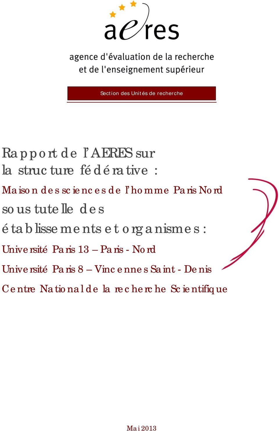 établissements et organismes : Université Paris 13 Paris - Nord Université