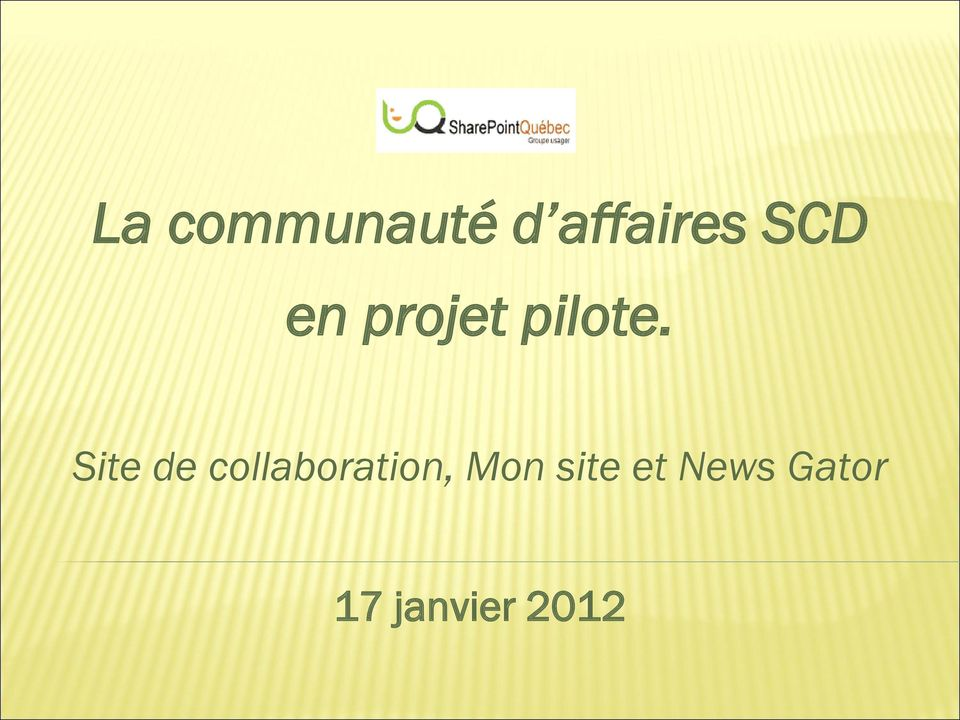 Site de collaboration, Mon