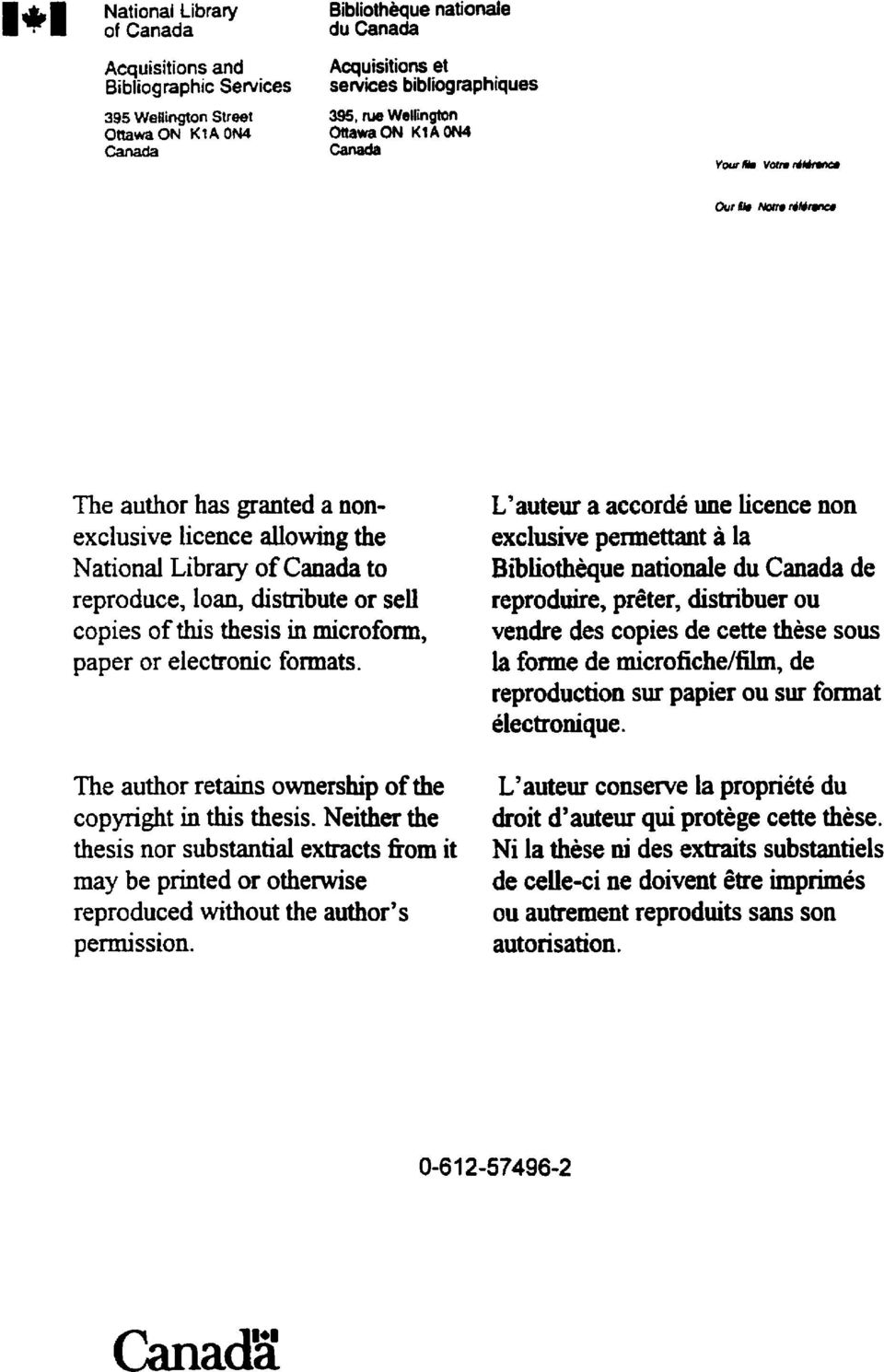 or electronic formats. The author retains ownership of the copyright in this thesis.
