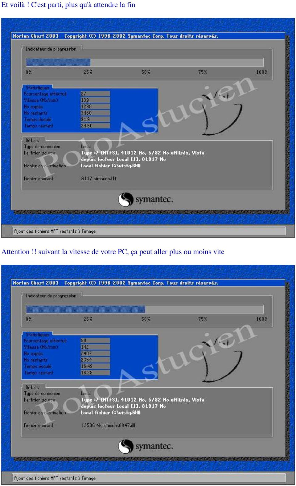 la fin Attention!