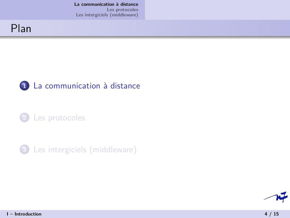 communication à