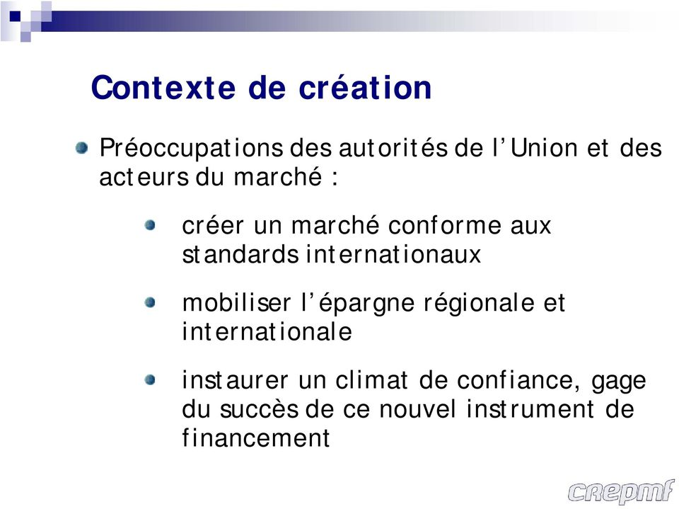 internationaux mobiliser l épargne régionale et internationale
