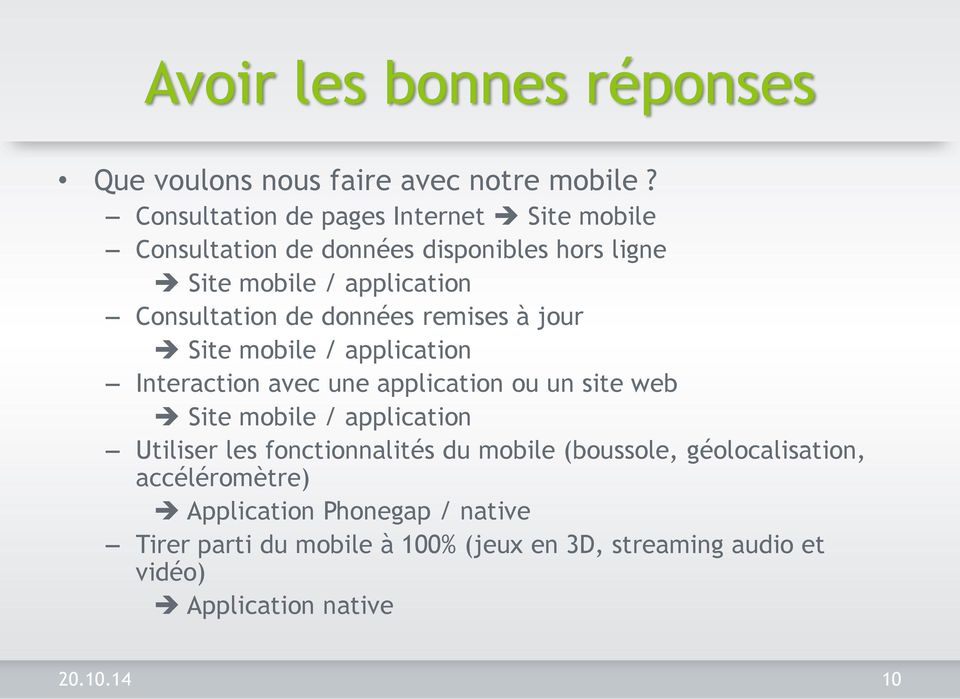 données remises à jour Site mobile / application Interaction avec une application ou un site web Site mobile / application Utiliser