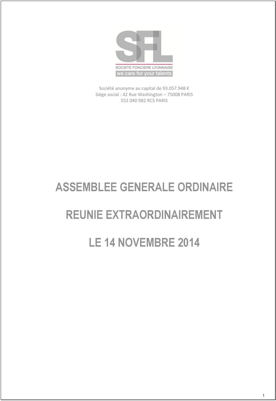 PARIS 552 040 982 RCS PARIS ASSEMBLEE
