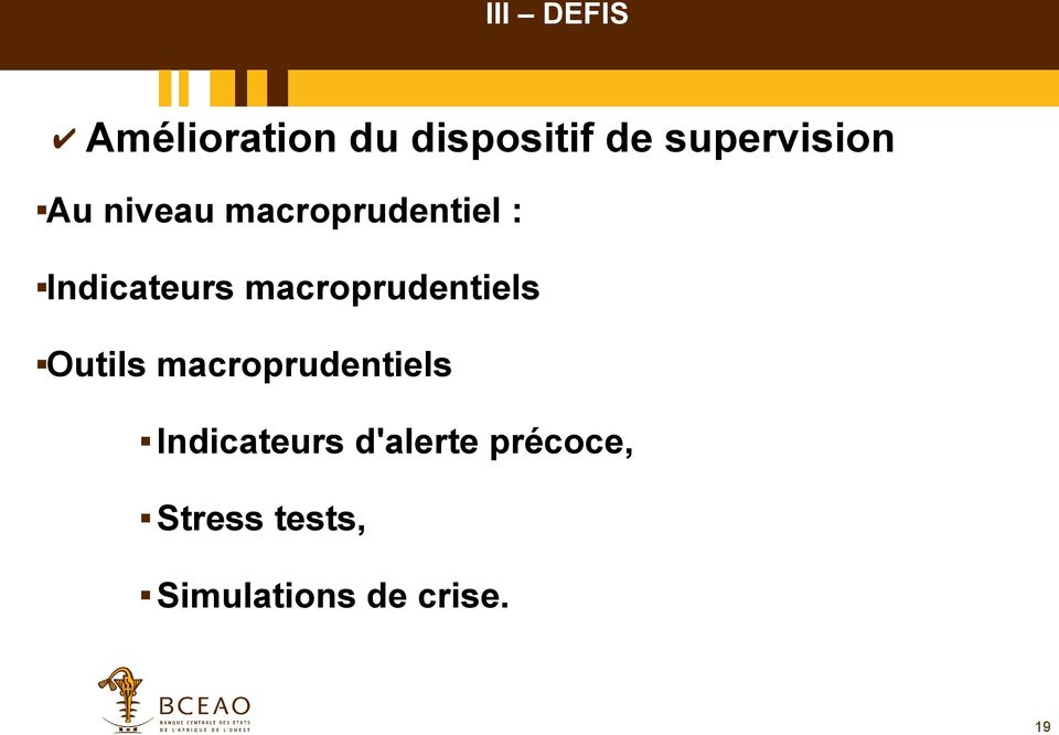 Indicateurs macroprudentiels Outils