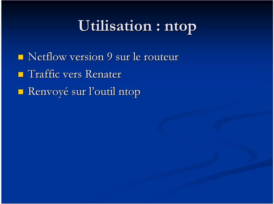 routeur Traffic vers