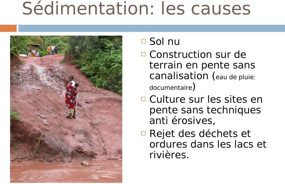 documentaire) Culture sur les sites en pente sans