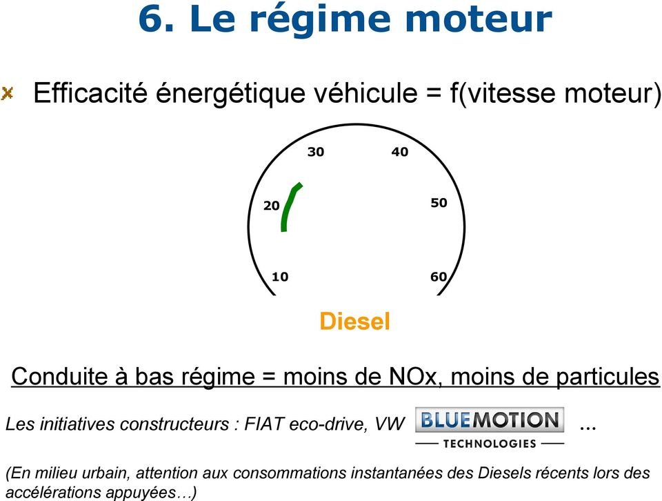 initiatives constructeurs : FIAT eco-drive, VW.