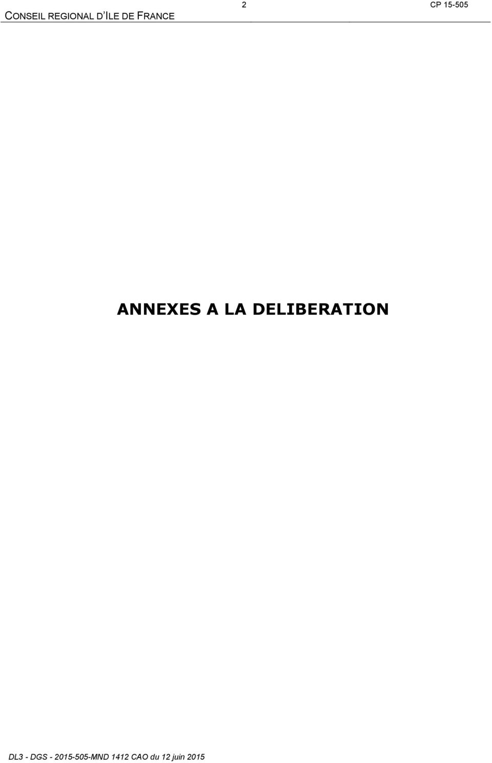 LA DELIBERATION DL3 - DGS -