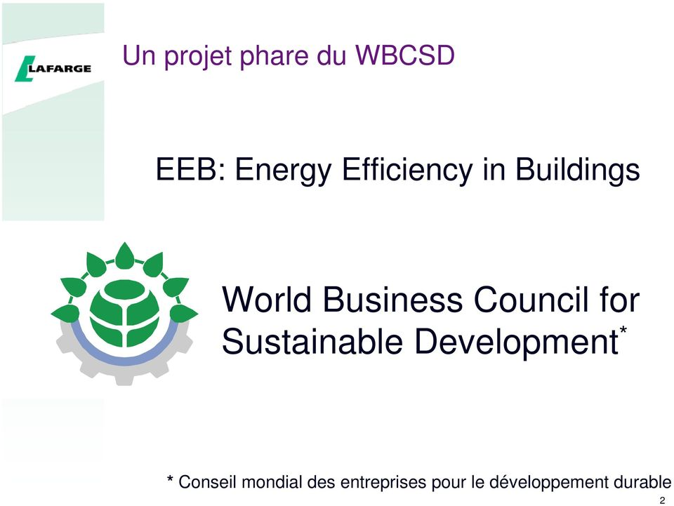 Council for Sustainable Development * *