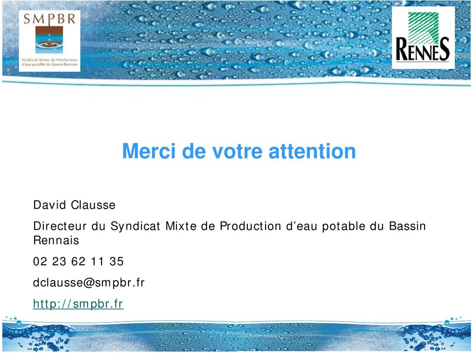 Production d eau potable du Bassin