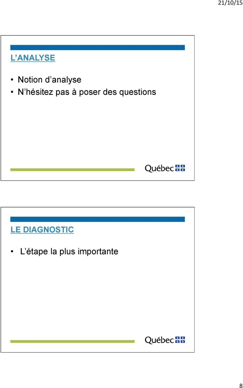 questions LE DIAGNOSTIC L