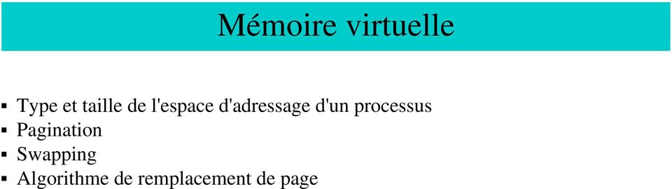 d'un processus Pagination