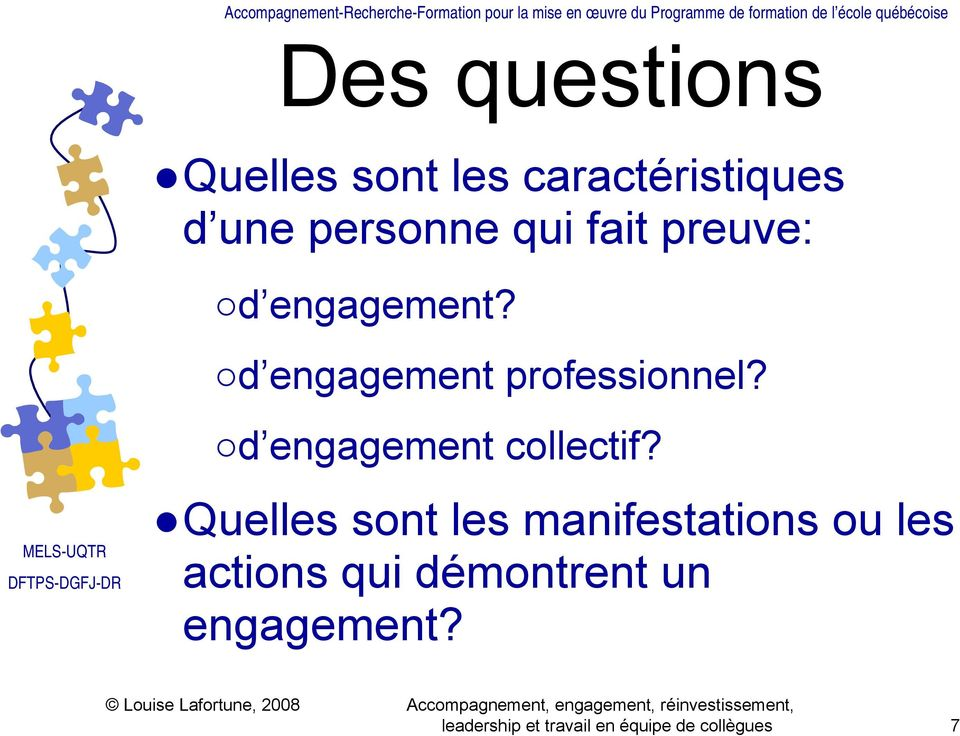 d engagement collectif?