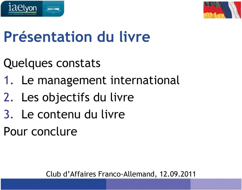 Le management international 2.