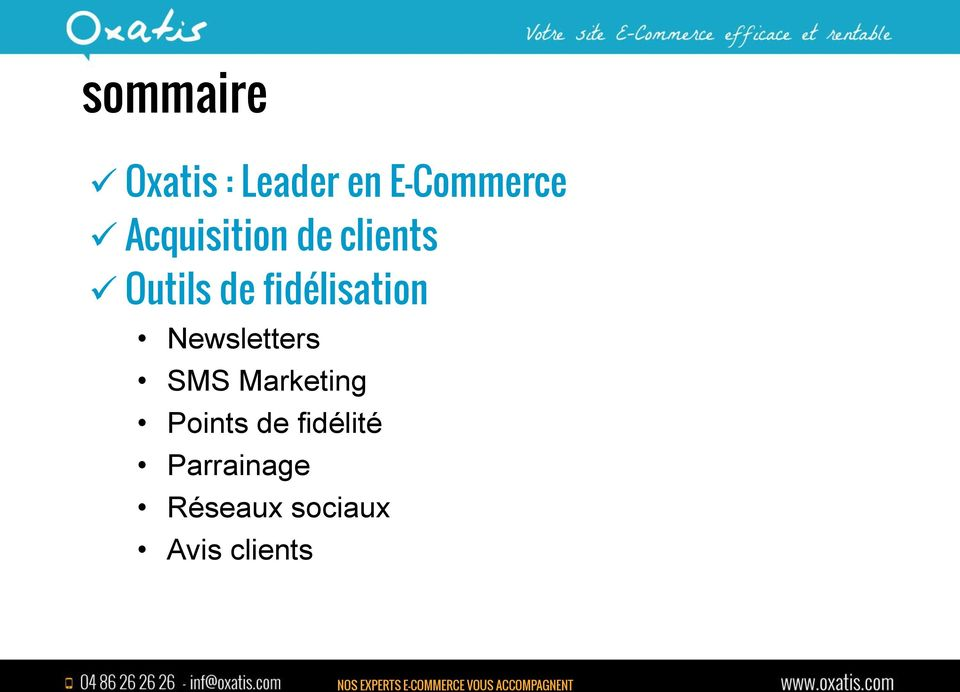 fidélisation Newsletters SMS Marketing
