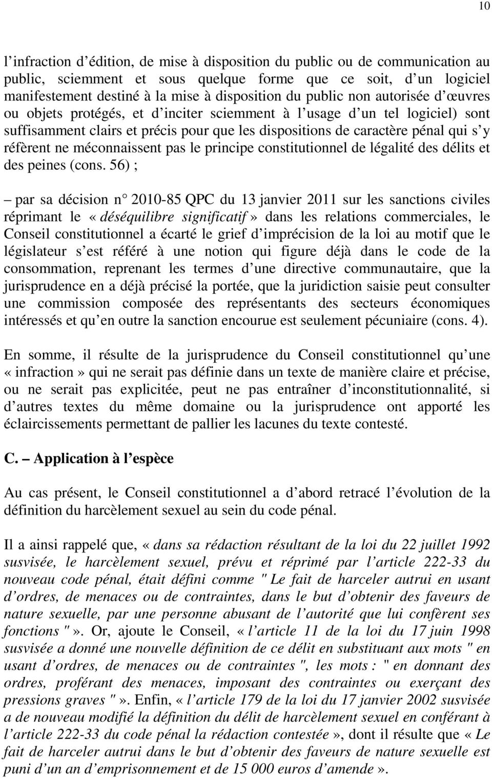 Commentaire d cision n qpc du 4 mai m g rard d for Definition delit