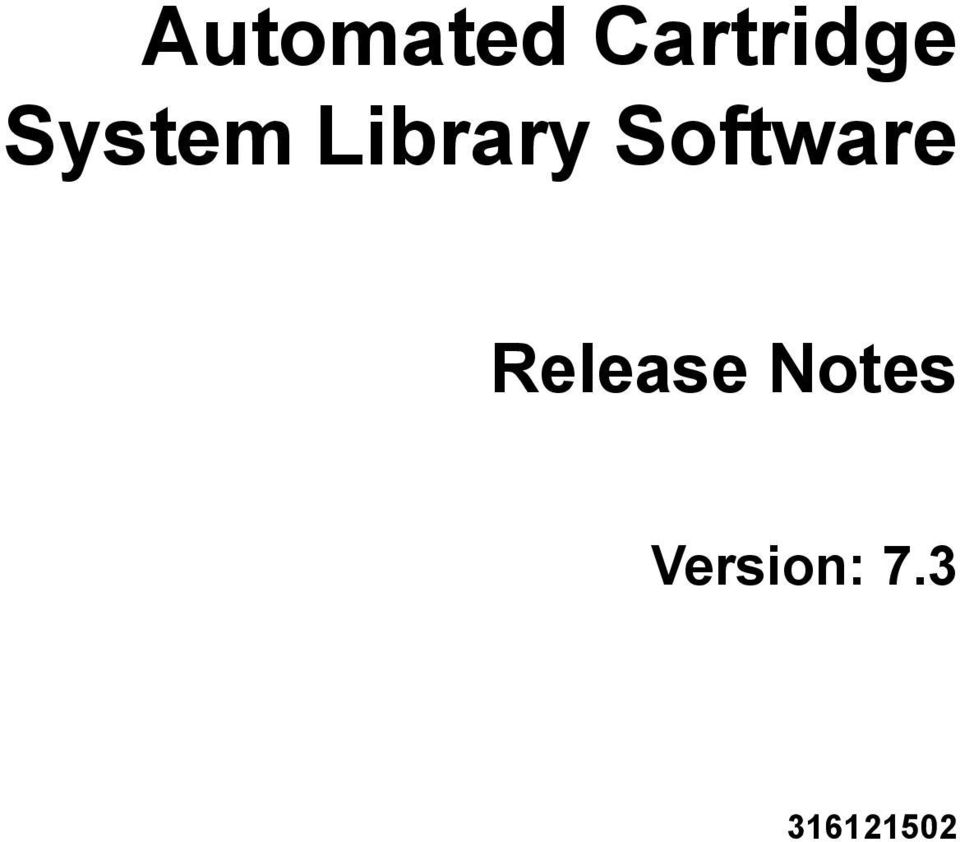Software Release