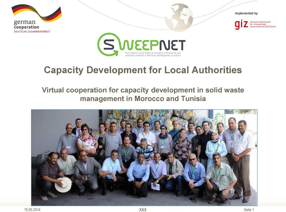 for capacity development in solid waste