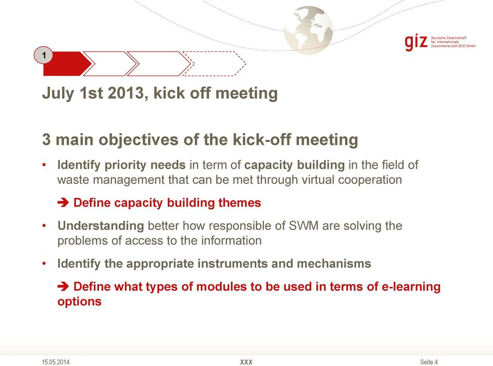 building themes Understanding better how responsible of SWM are solving the problems of access to the information