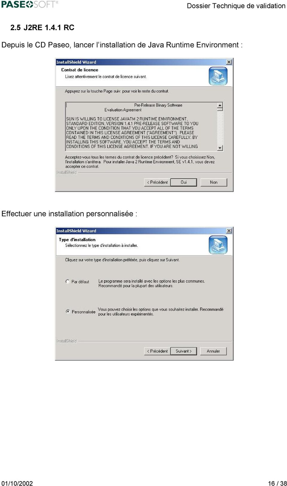 installation de Java Runtime